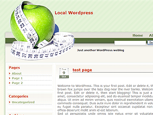 Diet Apple WordPress theme